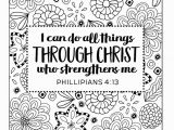 I Can Do All Things Coloring Page I Can Do All Things Through Christ by