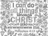 """I Can Do All Things Coloring Page Two Coloring Pages """"i Can Do All Things Through Christ"""
