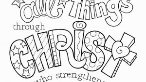 I Can Do All Things Through Christ Coloring Page I Can Do All Things Through Christ Coloring Page 8 5×11