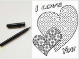 I Love You Coloring Pages for Adults I Love You 2 Hearts Coloring Page