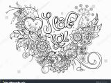 I Love You Coloring Pages for Adults Phrase Love You Flowers Page Coloring