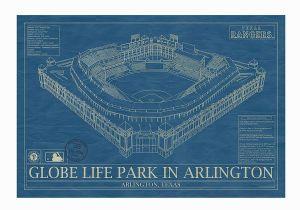 Ibrox Stadium Wall Mural Baseball Stadium Blueprints