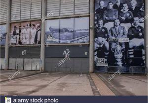 Ibrox Stadium Wall Mural Britain Football soccer Manchester City Stockfotos & Britain