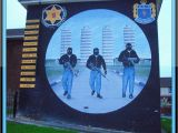 Ibrox Stadium Wall Mural Ulster Defence association [uff] Mural Rathcoole