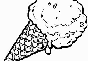 Ice Cream Cone Coloring Pages Ice Cream Coloring Pages with Waffle Cone