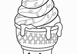 Ice Cream Cone Coloring Pages Sweet Ice Cream Dream Shopkin Coloring Page