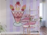 Ice Cream Wall Mural Chibi Moon S Strawberry Parfait Wall Mural by Lunatique