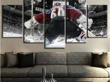Ice Hockey Wall Murals Us $5 72 Off 5 Piece Canvas Art Ice Hockey Goalkeeper Sport Modern Decorative Paintings On Canvas Wall Art for Home Decorations Wall Decor In