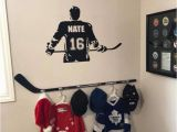 Ice Hockey Wall Murals Wall Stickers & Murals Hockey Player Wall Decal Personalized