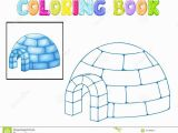 Igloo Printable Coloring Page Coloring Igloo Stock Vector Illustration Of House Freeze