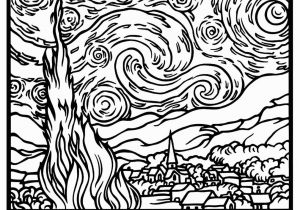 Impressionist Coloring Pages Free Coloring Page Coloring Adult Van Gogh Starry Night Large
