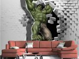 Incredible Hulk Wall Mural 3d Avengers Wallpaper Custom Hulk Wallpaper Unique