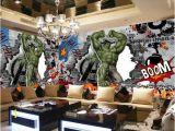 Incredible Hulk Wall Mural Großhandel Avengers Fototapete Gewohnheit 3d Hulk Tapete Graffiti Tapete Kinder Schlafzimmer Wohnzimmer Büro Tv Kulisse Superheld Die Einrichtung Der