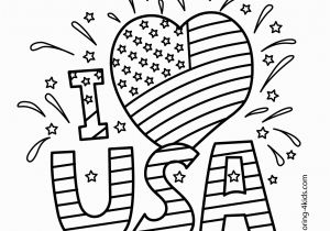 Independence Day Coloring Pages Printable I Love Usa Coloring Pages July 4 Independence Day Coloring