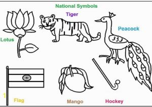 Indian Coloring Pages Print Out National Symbols Of India Coloring Printable Pages