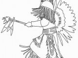 Indian Girl Coloring Pages Indianerh Uptling Zum Ausmalen
