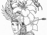 Indian Girl Coloring Pages Lovely Native American On Native American Day Coloring Page
