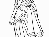 Indian Girl Coloring Pages Saree Indian Girl Coloring Page