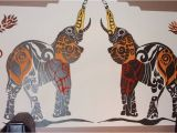 Indian Mural Wall Art Lagan Indian Restaurant Indian Elephant Wall Mural
