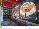 Indian Mural Wall Art Thai Mural Painting at Wat Phra Kaew Stock Image Of