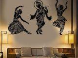 Indian Mural Wall Art Vinyl Wall Decal Dance Indian Womans Devadasi Indian Dance