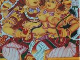Indian Murals Paintings Kerala Mural Painting Lord Shiva and Parvathi by athira K S