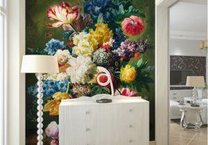 Indoor Mural Paint Fashion Interior Flower Design Oil Painting 3d Mural Wallpaper Hotel