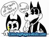 Ink Bendy Coloring Pages Bendy and the Ink Machine Coloring Pages Printable