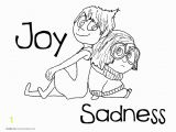 Inside Out Sadness Coloring Page Inside Out Coloring Pages