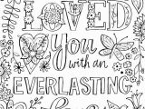 Inspirational Bible Verses Coloring Pages I Have Loved You with An Everlasting Love