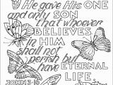 Inspirational Bible Verses Coloring Pages John 3 16 Coloring Page