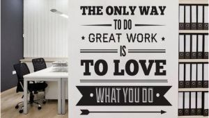 Inspirational Quotes Wall Murals Fice Decor Typography Inspirational Quote Wall Decoration