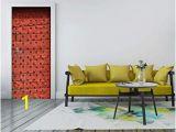 Interior Design Wall Murals Amazon Msszff 3d Traditional Red Door Mural Wallpaper