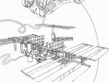 International Space Station Coloring Page International Space Station Coloring Page – Color Bros