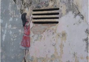 Ipoh Wall Art Mural Little Girl Reaching to A Bird Cage Picture Of Art Of Oldtown