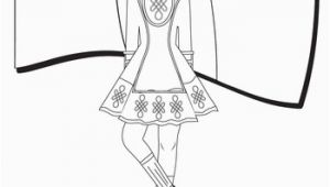 Irish Dance Coloring Pages Irish Dance Coloring Page