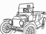 Iron Man Car Coloring Pages Model T Car 1915 ford Model T Car Colouring Page