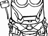 Iron Man Coloring Pages Easy Iron Man Minion with Images