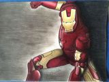 Iron Man Movie Coloring Pages Iron Man Prismacolor Marvel Zeichnung Gelb Rot Kinder