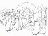 Isaac and Rebekah Coloring Page Abraham and Three Visitors Coloring Page