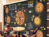 Italian Cafe Wall Murals Custom 3d Wallpaper for Walls 3d Pizza Shop Wall Mural Coffee Bread