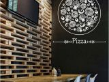 Italian Cafe Wall Murals Pizza Decal Pizzeria Logo Vinyl Sticker Window Sign Cooking Art