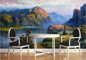 Italian Landscape Murals Realistic Landscape Oil Paintings Valley Spring Mural