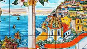 Italian Wall Tile Murals Ceramic Murals for Kitchen Backsplash Coast Of Positano