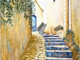 Italian Wall Tile Murals sole Journey Canvas Art by Artist Linda Paul