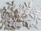 Ivory Rose Wall Mural 3d Floral Wallpaper Embossed Cement Flower Wall Mural Modern