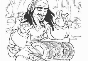 Jack Sparrow Coloring Page Jack Sparrow Pirates the Caribbean Open Treasure Coloring Page
