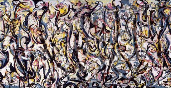 Jackson Pollock Mural Print Jackson Pollock Mural 1943 Reproduction Canvas Print Wall