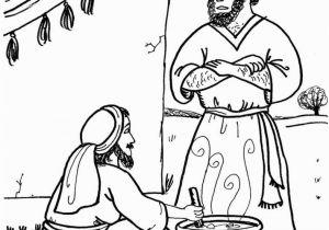 Jacob and Esau Reunite Coloring Page Jacob and Esau Coloring Page