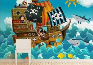 Jake and the Neverland Pirates Wall Mural Wallpaper Sticker Pirates by Sticky Wallpaper